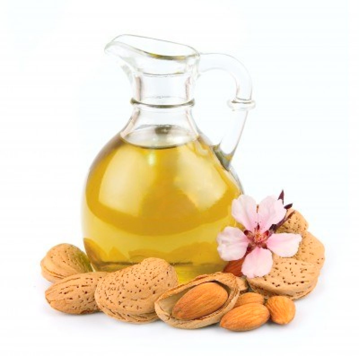 14918547-almond-oil-isolated-on-white-background